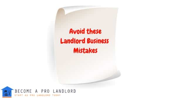 Landlord Business Mistakes