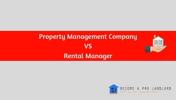 Renting through Property Management Company