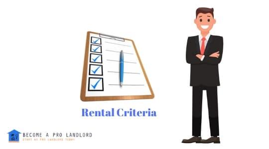 Rental Criteria checklist