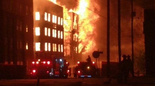 Landlord sued for apartment building on fire