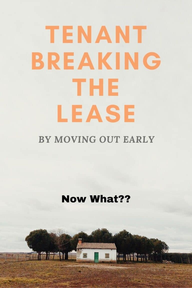 Tenant Breaking Lease By Moving Out Early